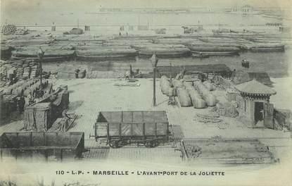 """/ CPA FRANCE 13 """"Marseille, l'avant port de la Joliette"""""""