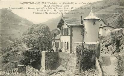 "CPA FRANCE 43 ""Monistrol d'Allier, Villa Denise"""