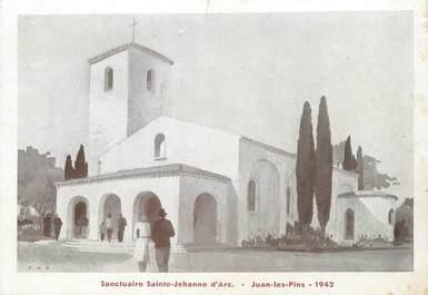 """/ CPSM FRANCE 06 """"Juan les Pins, sanctuaire Sainte Jeanne d'Arc 1942"""""""