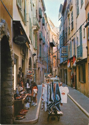 """/ CPSM MONACO """"La Rue Basse"""""""