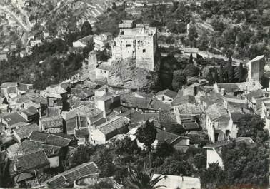 """/ CPSM FRANCE 06 """"Roquebrune, vue aérienne sur le vieux village et le château"""""""
