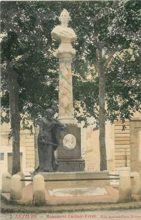 """CPA FRANCE 34 """"Béziers, monument Casimir Péret"""""""