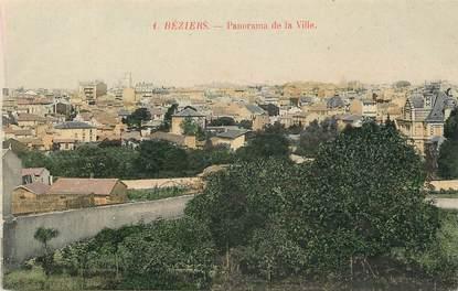 """CPA FRANCE 34 """"Béziers, panorama de la ville"""""""