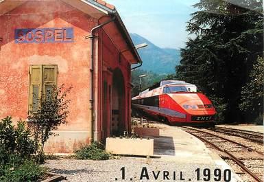 """/ CPSM FRANCE 06  """"Sospel"""" / TGV"""