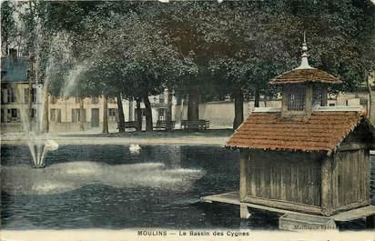 "CPA FRANCE 03 ""Moulins, le Bassin des Cygnes"""