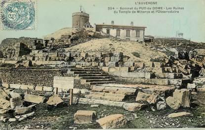 """CPA FRANCE 63 """"Sommet du Puy de Dome, les ruines du Temple de Minerve"""""""