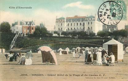 "CPA FRANCE 35 ""Dinard, Grand Hôtel de la plage"""