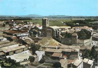 """/ CPSM FRANCE 11 """"Puichéric, le château et l'église, vue aérienne"""""""