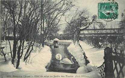 """CPA FRANCE 38 """"Grenoble sous la neige, au jardin des plantes"""""""