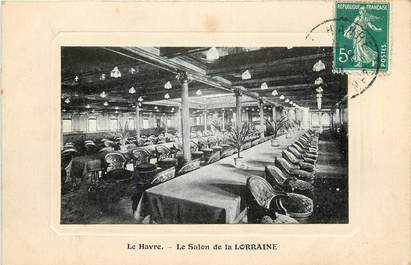 """CPA FRANCE 76 """"Le Havre, le Salon de la Lorraine"""""""