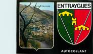 """12 Aveyron / CPSM FRANCE 12 """"Entraygues sur Truyère"""" / AUTOCOLLANT"""