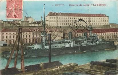"""CPA FRANCE 29 """"Brest, caserne du dépôt Le Suffren"""""""