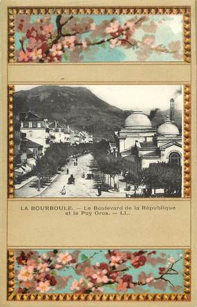 """CPA FRANCE 63 """"La Bourboule, bld de la République"""""""