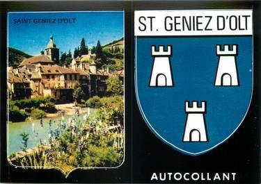 """/ CPSM FRANCE 12 """"Saint Geniez d'Olt"""" / AUTOCOLLANT"""