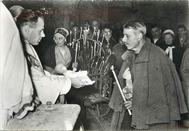 """/ CPSM FRANCE 13 """"Les Baux de Provence, messe de Noël"""""""