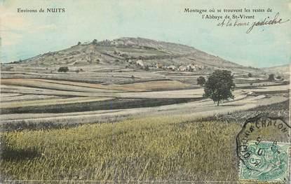 """CPA FRANCE 21 """"Env. de Nuits, Montagne où se trouvent les restes de l'Abbaye de Saint Vivant"""""""