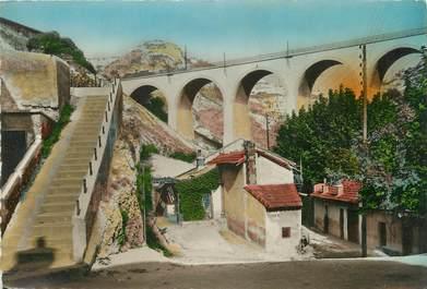 """/ CPSM FRANCE 13 """"L'Estaque Riaux, le pont de la Nerthe"""""""