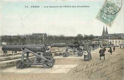 """CPA FRANCE 75007 """"Paris, les Canons de l'Hôtel des Invalides"""""""