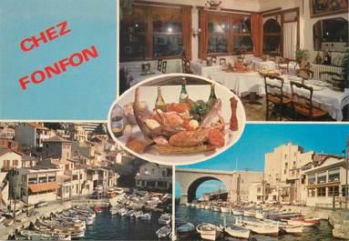 """/ CPSM FRANCE 13 """"Marseille, le vallons des Auffes, restaurant chez Fonfon'"""