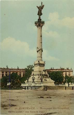 """CPA FRANCE 33 """"Bordeaux, monument des Girondins"""""""