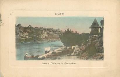 """CPA FRANCE 13 """"Cassis, anse et Chateau de Port Miou"""""""