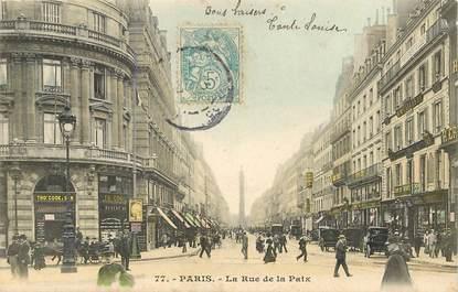 "CPA FRANCE 75002 ""Paris, La rue de la Paix"""