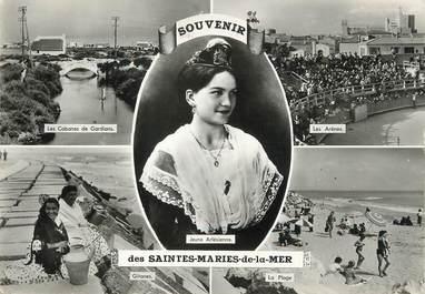 "/ CPSM FRANCE 13 ""Souvenir des Saintes Maries de la Mer"" / GITAN"
