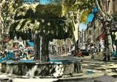 """13 Bouch Du Rhone / CPSM FRANCE 13 """"Salon de Provence, la fontaine Moussue et la place"""""""