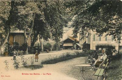 """CPA FRANCE 73 """"Brides les Bains, le Parc"""""""