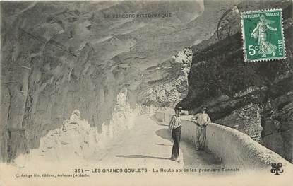 """/ CPA FRANCE 26 """"Les Grands Goulets, la route après les premiers tunnels""""  / PRECURSEUR, avant 1900"""""""