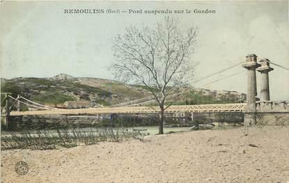 """CPA FRANCE 30 """"Remoulins, pont suspendu sur le Gardon"""""""