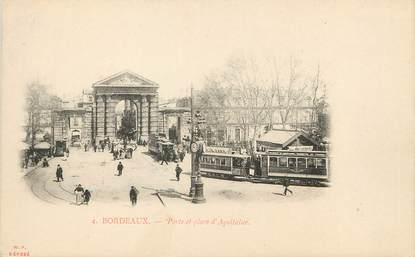 """/ CPA FRANCE 33 """"Bordeaux, porte et place d'Aquitaine"""" / PRECURSEUR, avant 1900"""
