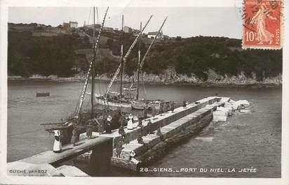 """/ CPA FRANCE 83 """"Giens, port du Niel, la jetée"""" / PRECURSEUR, avant 1900"""