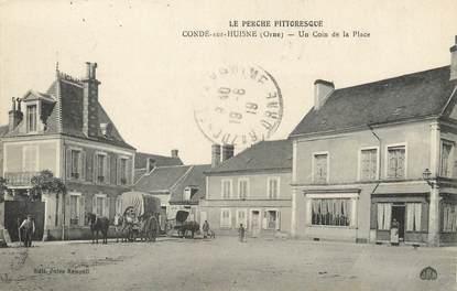 """/ CPA FRANCE 61 """"Condé sur Huisne, un coin de la place""""  / PRECURSEUR, avant 1900"""