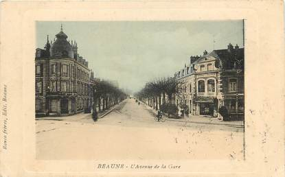 "CPA FRANCE 21 ""Beaune, avenue de la gare"""