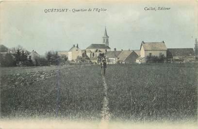 """CPA FRANCE 21 """"Quétigny, quartier de l'Eglise"""""""