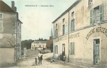 """CPA FRANCE 21 """"Senailly, Grande Rue"""" / EPICERIE / MERCERIE"""