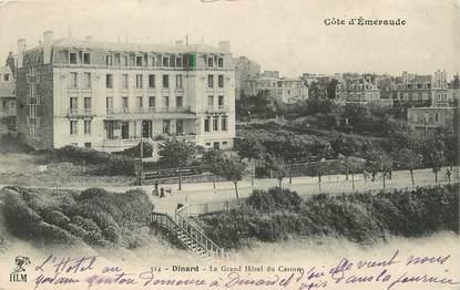"/ CPA FRANCE 35 ""Dinard, le grand hôtel du casino"" / PRECURSEUR, avant 1900"