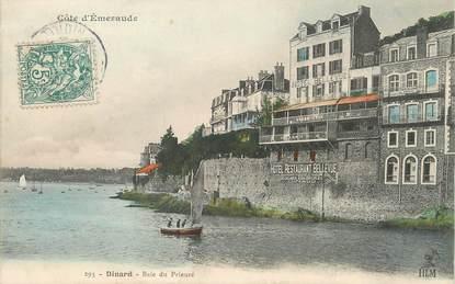 "/ CPA FRANCE 35 ""Dinard, baie du prieuré"" / PRECURSEUR, avant 1900"