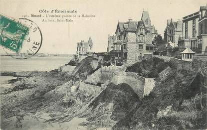 """/ CPA FRANCE 35 """"Dinard, l'extrème pointe de la Malouine"""" / PRECURSEUR, avant 1900"""