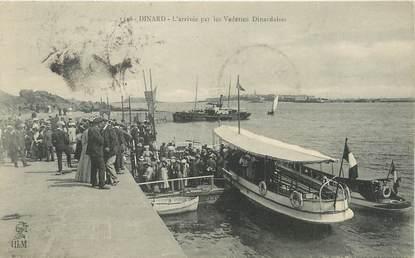 """/ CPA FRANCE 35 """"Dinard, l'arrivée des vedettes Dinardaises"""" / PRECURSEUR, avant 1900"""