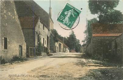 """CPA FRANCE 21 """"Beire le Chatel, la rue du chateau"""""""