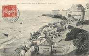 """35 Ille Et Vilaine / CPA FRANCE 35 """"Saint Malo, la plage de bon secours à marée haute"""" / PRECURSEUR, avant 1900"""