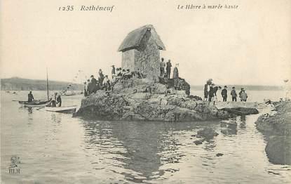 """/ CPA FRANCE 35 """"Rotheneuf, le Hâvre à marée Haute"""" / PRECURSEUR, avant 1900"""