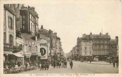 """/ CPA FRANCE 49 """"Saumur, place Bilange et rue d'Orléans"""" / PRECURSEUR, avant 1900"""