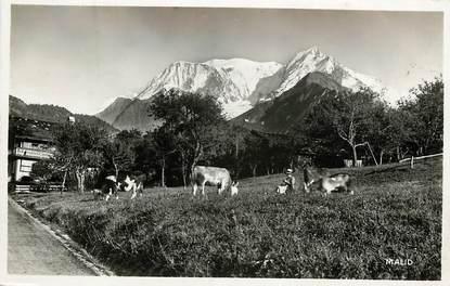 """CPSM FRANCE 74 """"Route de Saint Gervais à Saint Nicolas de Veroce, Le Mont Blanc"""""""