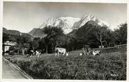 """74 Haute Savoie CPSM FRANCE 74 """"Route de Saint Gervais à Saint Nicolas de Veroce, Le Mont Blanc"""""""