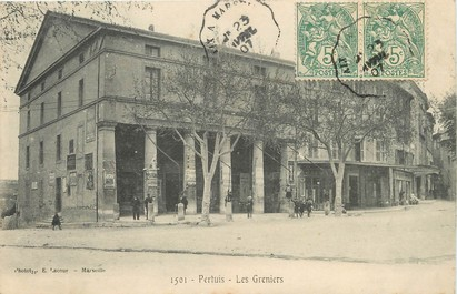 "/ CPA FRANCE 84 ""Pertuis, les Greniers"" / PRECURSEUR, avant 1900"