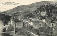 """48 Lozere / CPA FRANCE 48 """"Meyrueis, la tour et le rocher du château"""" / PRECURSEUR, avant 1900"""