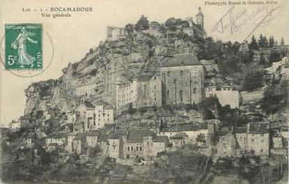 """/ CPA FRANCE 51 """"Rocamadour, vue générale"""" / PRECURSEUR, avant 1900"""